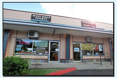 West Maui Sports and Fishing Supply Location
